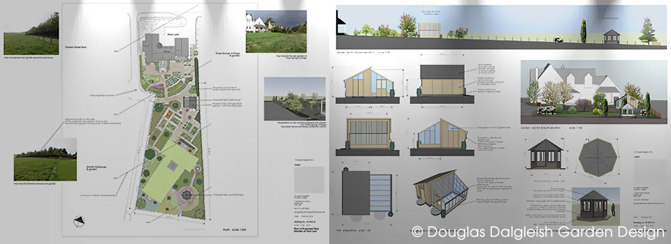 garden plan and elevations prepared for planning application